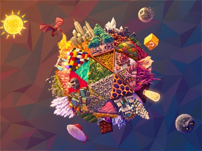 Inspiredology Poster Giveaway 3d isometric world polygons inspiredology poster