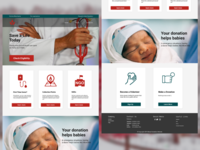 Blood Donation Website Homepage