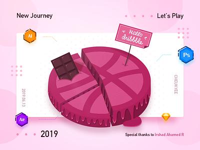 Hello Dribbble! debuts icon ui data pie illustration hellodribbble firstshot