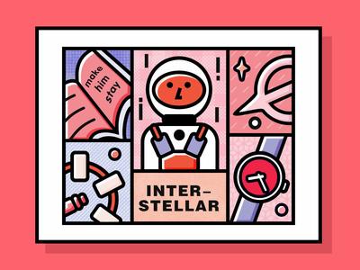 Interstellar interstellar nolan movie illustration