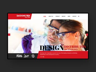 Dai Dong Tien Website Design red website black web web design ui ux