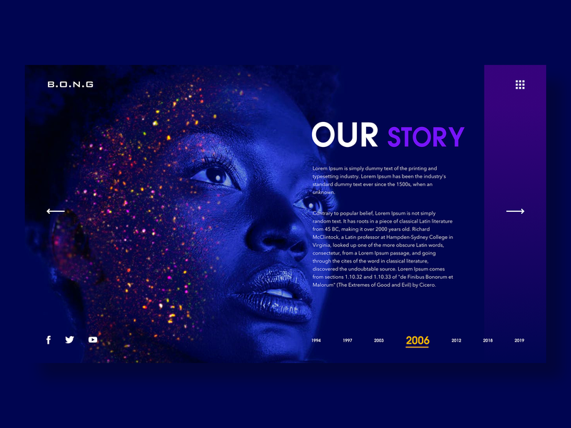 Our story ui design bong web design about us page about page about us about our story