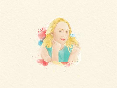 Watercolour Portrait - 1