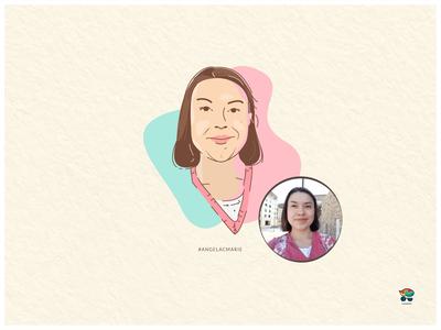 Angelacmarie vector cute digital art art design digital portrait art vector art illustration illustrator