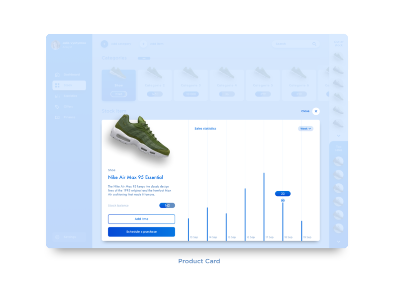 Product Card dashbaord clean ui web e-commerce sketch clean design ux  ui stock