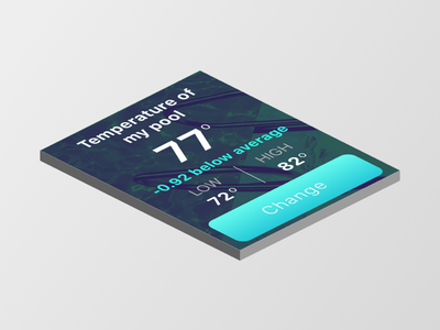 Pool Temperature Apple Watch App