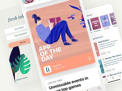 fresh ink - App of The Day illustration book app book art reading illustrations reading illustration reading bookart freshink appoftheday reading app bookapp