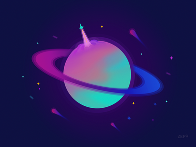 Planet Zepo V1 orbs rocket space gradients planets planet