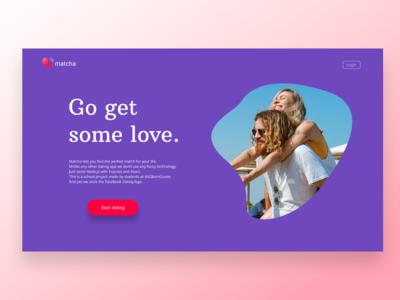 Matcha - Dating App - Landing Page