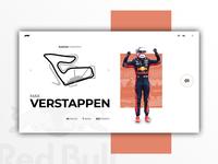 F1 Max Verstappen  - Web Design