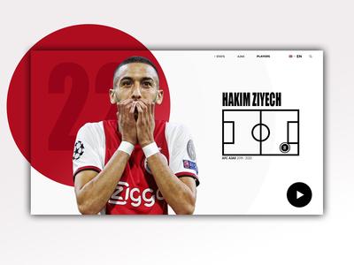 Hakim Ziyech - Web Design
