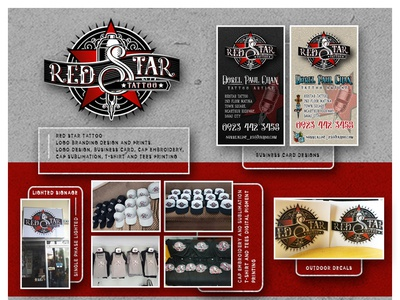Red Star Tattoo Logo Branding Designs