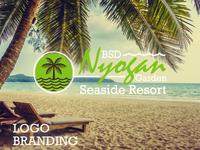 BSD Nyogan Garden Seaside Resort Logo Branding Designs.