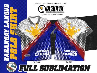 Barangay Langub Officials Polo Shirt Full Sublimation Design and