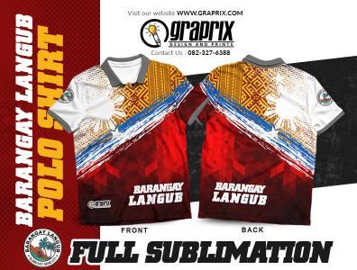 Barangay Langub Officials Polo Shirt Full Sublimation Design