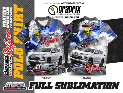 MSCP DAVAO CITY REGION Polo Shirt full Sublimation Design