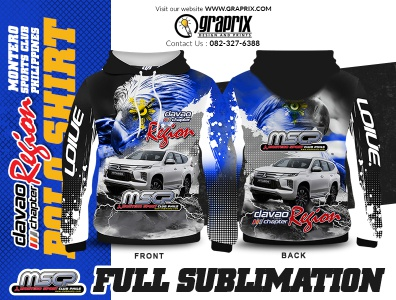MSCP DAVAO CITY REGION Hoodie full Sublimation Design
