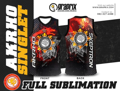 AKRHO-SKEPTRON Singlet Full Sublimation Design and Printing