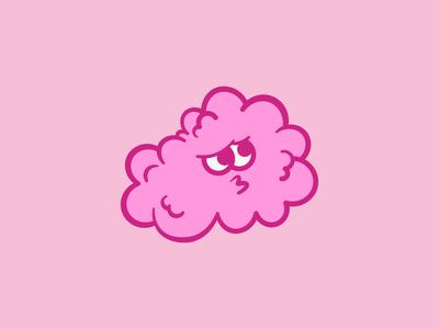 Sad Cloud pink sad clouds cloud art illustration design