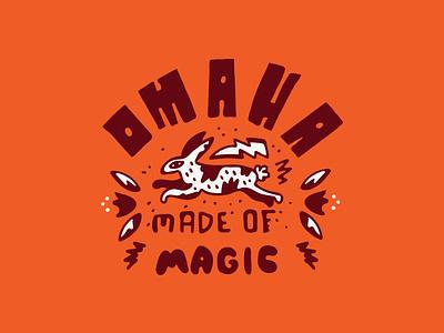 Omaha Made of Magic nebraska omaha magic rabit type handmadetype illustration design