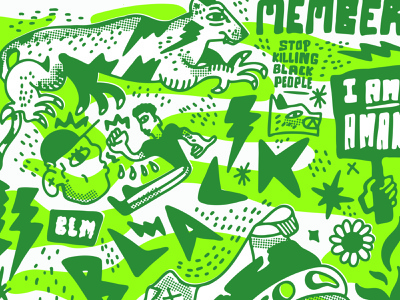 BLM Poster protest flower panther poster handmadetype illustration blacklivesmatter