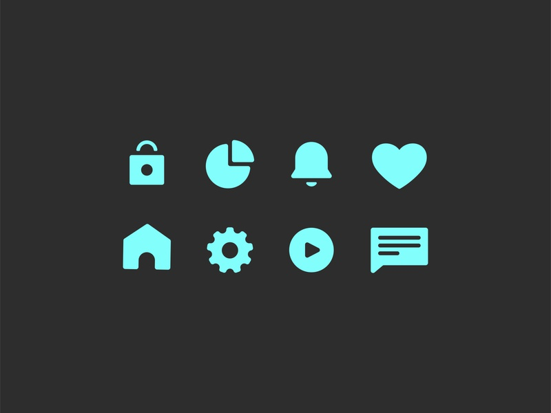Better Culture Icons graph heart bell home lock brand identity branding design simple icons