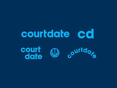 Court Date court date court app basketball logo logo brand identity type branding design basketball