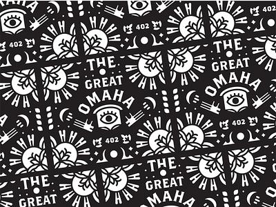 The Great Omaha omaha eye magic illustration design