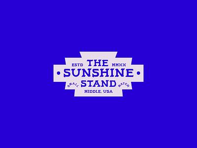 Sunshine Stand Badge layout lemonade midwest logo type brand identity branding design badge