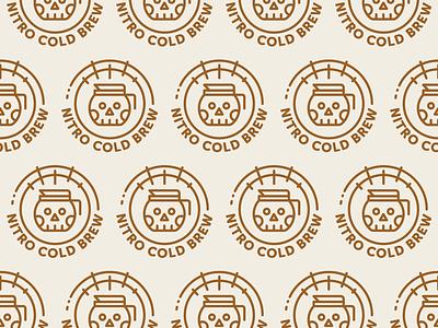 Nitro Cold Brew tap pot skull cold brew coffee