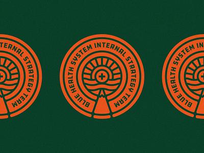B.H.S.I.S.T Badge graphic design graphicdesign graphic crest noise texture noise colors color-combo orange healthcare health illustration badge logo art brand identity branding design