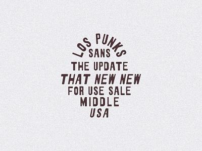 Los Punks Sans sans punks western typedesign custom logo typogaphy handmadetype handletters hand drawn handmadefont handmade custom lettering customtype font awesome font family font design font