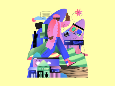 Illustration — Webflow in 2020 webflow city color branding art illustration design