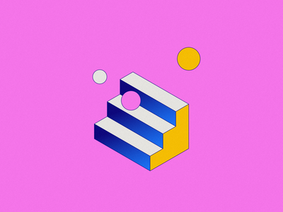 No-Code Conf 2021 - Illustration lines graphic design conference no-code machine shapes illustration branding design