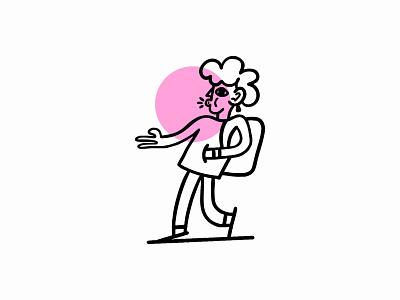 Gum Illustration walk gum illustration