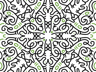 Playing with Procreate symmetry illustration symmetryobsession procreate symmetry