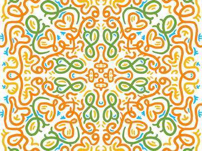 Playing with Procreate symmetry procreate symmetryobsession symmetry illustration