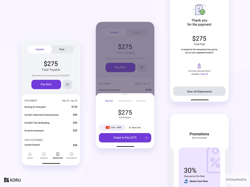 Payment Management System healthcare app ui  ux enterprise ux payment gateway enterprise uxdesign healthcare payment app interaction dashboard design dashboard ux