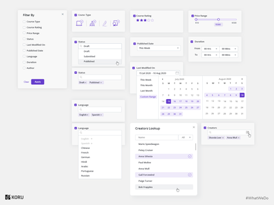 Filters & Micro-interactions UI Design uxui uxdesign checkbox app design dashboard ui design dashboard interaction ui  ux illustration enterprise ux dashboard design ux