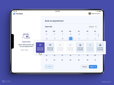 Appointment Booking - Mockup