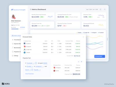 Marketing Metrics & Forecasting Tool