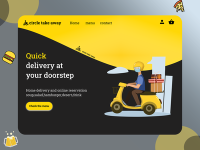 take away web design website web delicious eat fast hungry cake webdesign ui ux dessert drink delivary food fastfood take away takeaway