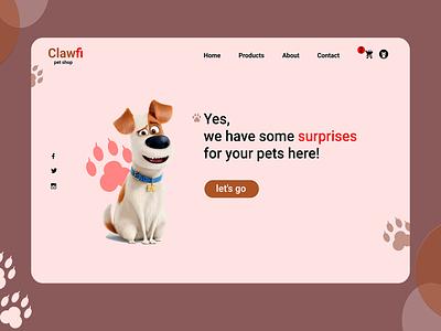 Petshop website design webdesign website figma photoshop web pet shop petshop pets pet