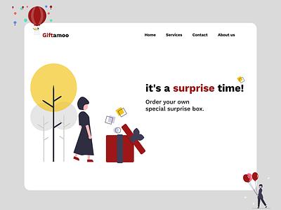 Gift box website giftbox box ux ui design webdesign website surprise gifts gift