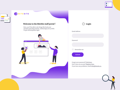 web design website ux ui webdesign login page