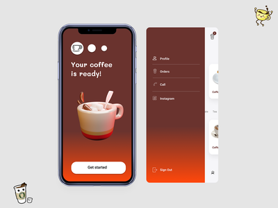 Cafe online menu coffeeshop coffee
