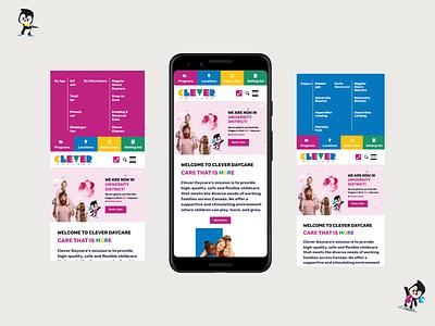 Daycare Web Design website webdesign ux daycare ui