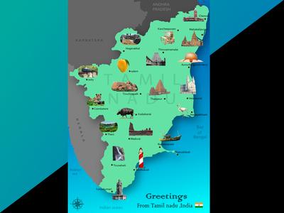 Tamilnadu invite post card