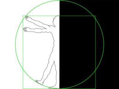 Vitruvian man -Leonardo da Vinci