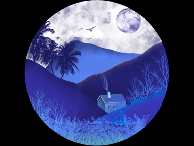 Monochromatic life blue monochromat nature home scenery moon monochromatic
